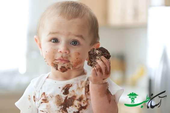 پاک کردن لکه شکلات