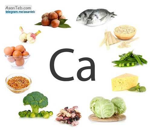 میزان کلسیم در مواد غذایی