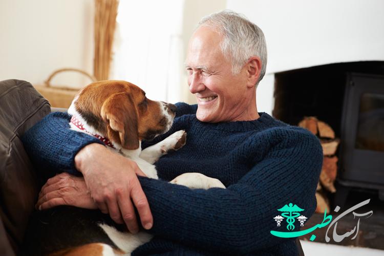 فواید نگهداری سگ:سلامتی سالمندان و دوستی با آنها
