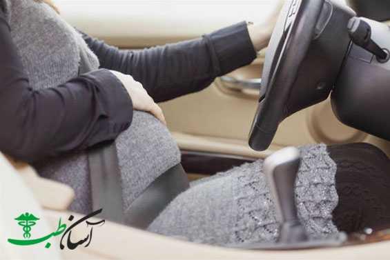 رانندگی خانم باردار